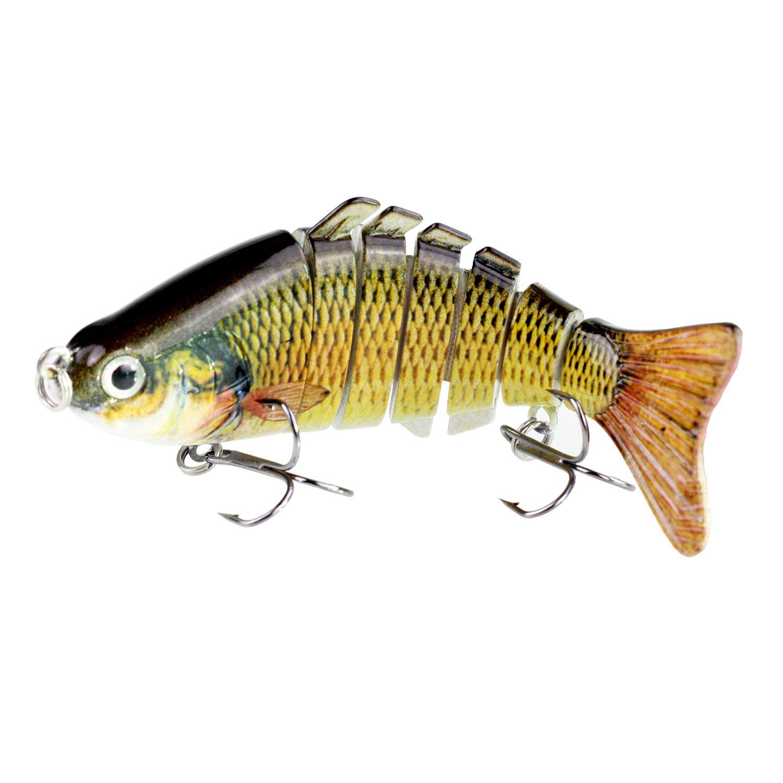 Modenpeak HJ-7S04 7 Segment Swimbait Lures Crankbaits Baits Hard Bait Fishing Lures 4'' 0.8oz by Modenpeak (Image #1)