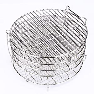 Dehydrator Stand for Ninja Foodi Accesories 6.5&8 Qt, Dehydrator Rack for Ninja Air Fryer & Pressure Cooker to Dehydrate Fruits, Meats, Veggie Chips With 5 Stackable Layers, Food-Grade Stainless Steel