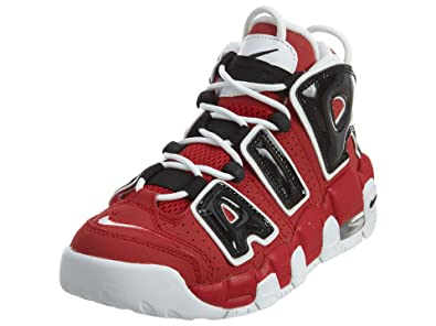 Nike Kids Air More Uptempo Retro Basketball Shoes Varsity Red-White-Black 4  M