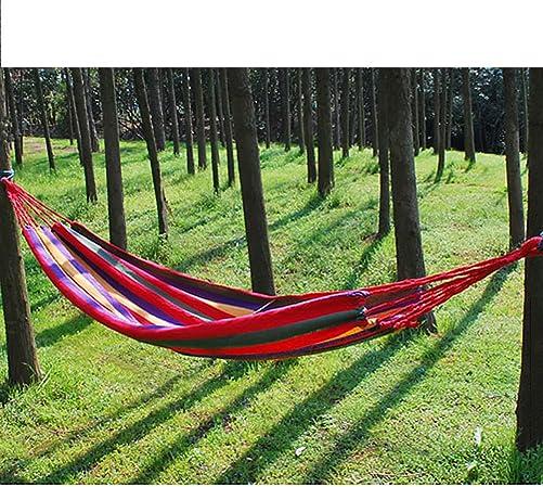 Buffalo Ludwing Rhyser Canvas Hammock Cotton Fabric Travel Camping Hammock One Person Red