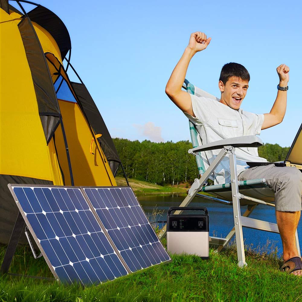 BougeRV 100 Watt 18V 12V Solar Panel SunPower Cell Solar Charger Foldable Portable Dual Output (5V/2A USB + 18V/5A DC), 10 Laptops Connectors Suitable for Smartphones, Tablet, Generator, RV, Boat by BougeRV (Image #8)