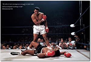 Muhammad Ali Poster - Motivational Quote (13x19)