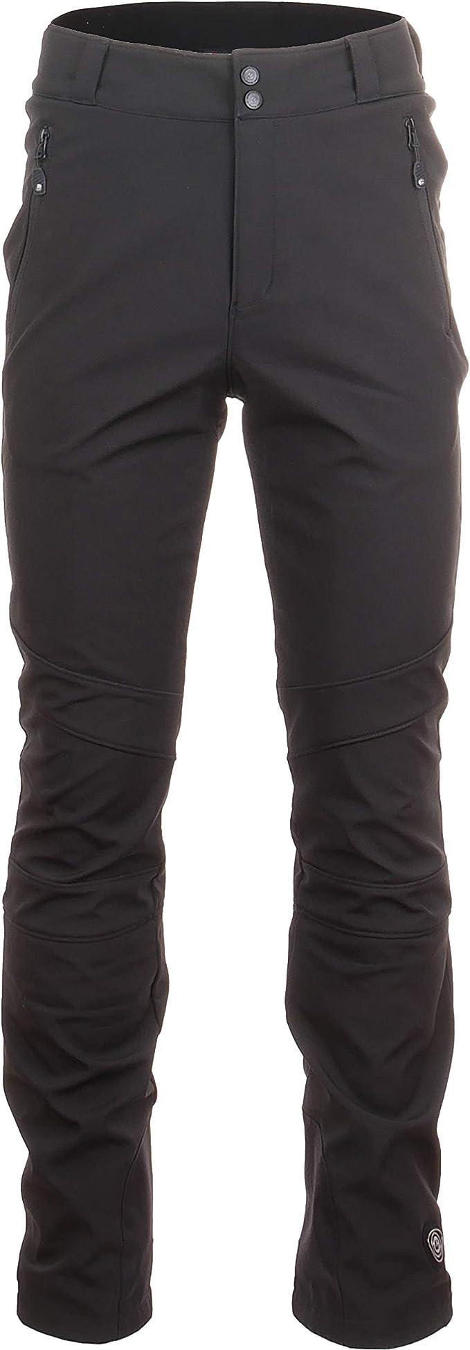 killtec, Softshellhosen Nilam Softshell Hose mit abnehmbaren Trägern, Kantenschutz und Schneefang, schwarz
