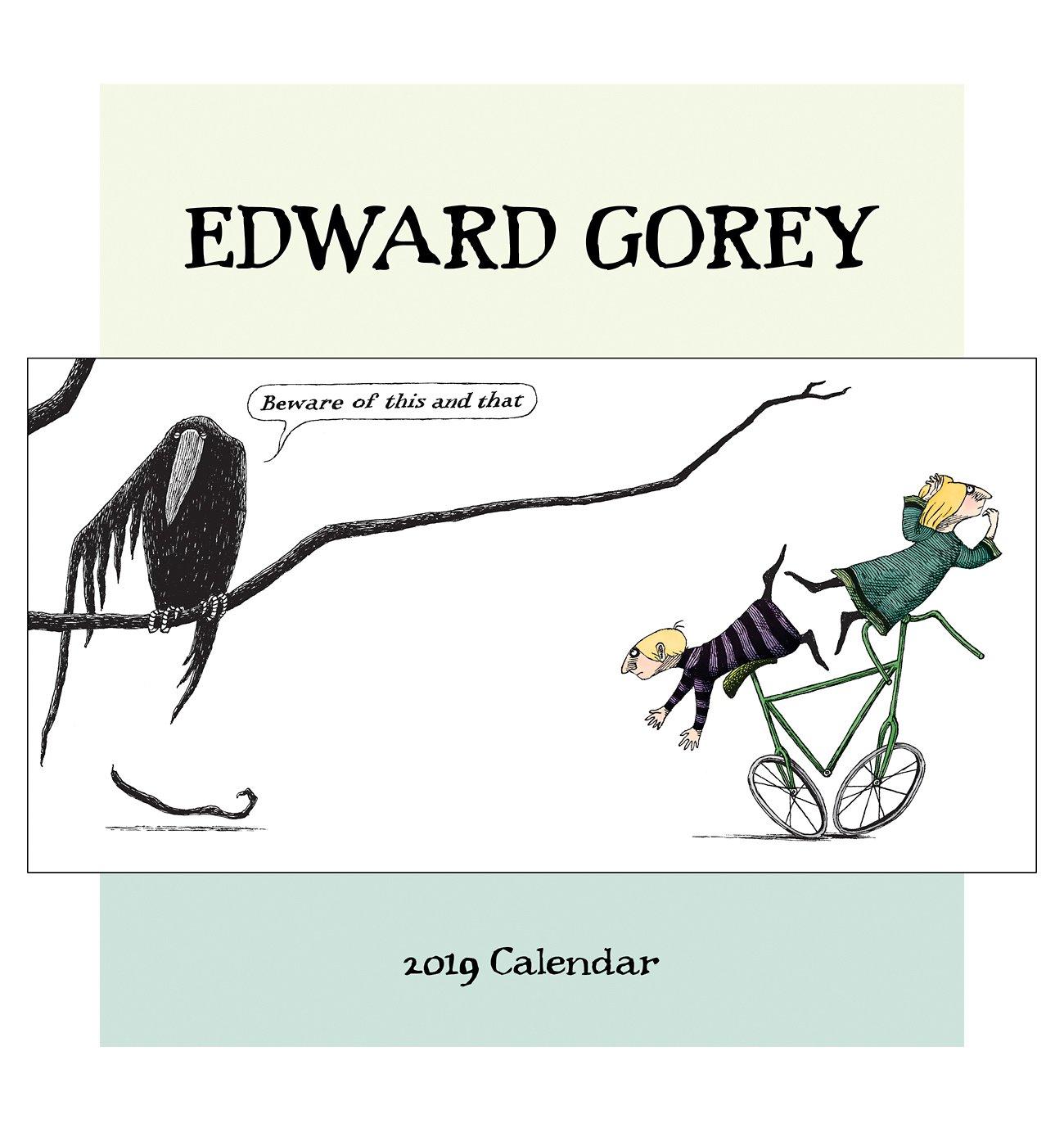 Edward Gorey 2019 Wall Calendar