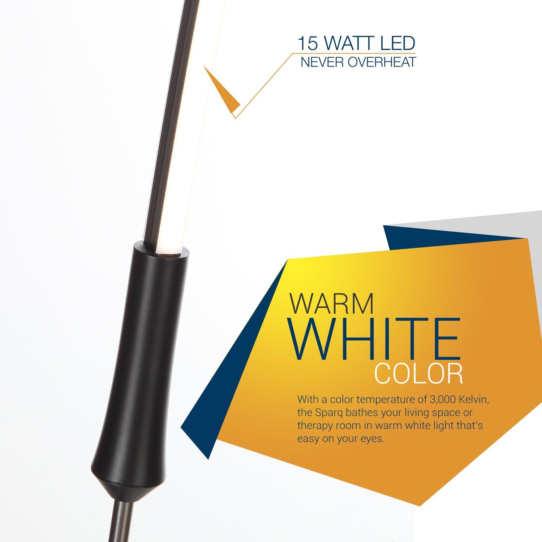 Amazon white floor lamps lamps shades tools - Brightech Sparq Led Arc Floor Lamp Curved Contemporary Minimalist Lighting Design Warm White Light Black Amazon Com