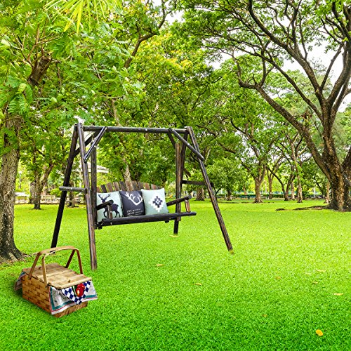 Amazon.com : VH FURNITURE Wooden Garden Swing With Large Space For Outdoor  Furniture Natural Style : Garden U0026 Outdoor