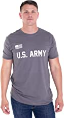 BROOKLYN VERTICAL US Army T-Shirt - U.S Military Training Men Shirt with American Flag in Front