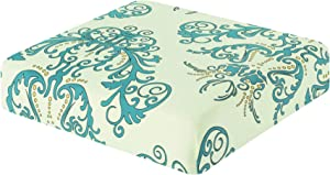 TIKAMI Couch Cover Seat Printed Slipcover Replacement Furniture Protector for Sofa Cushion 1 Seater(Green)