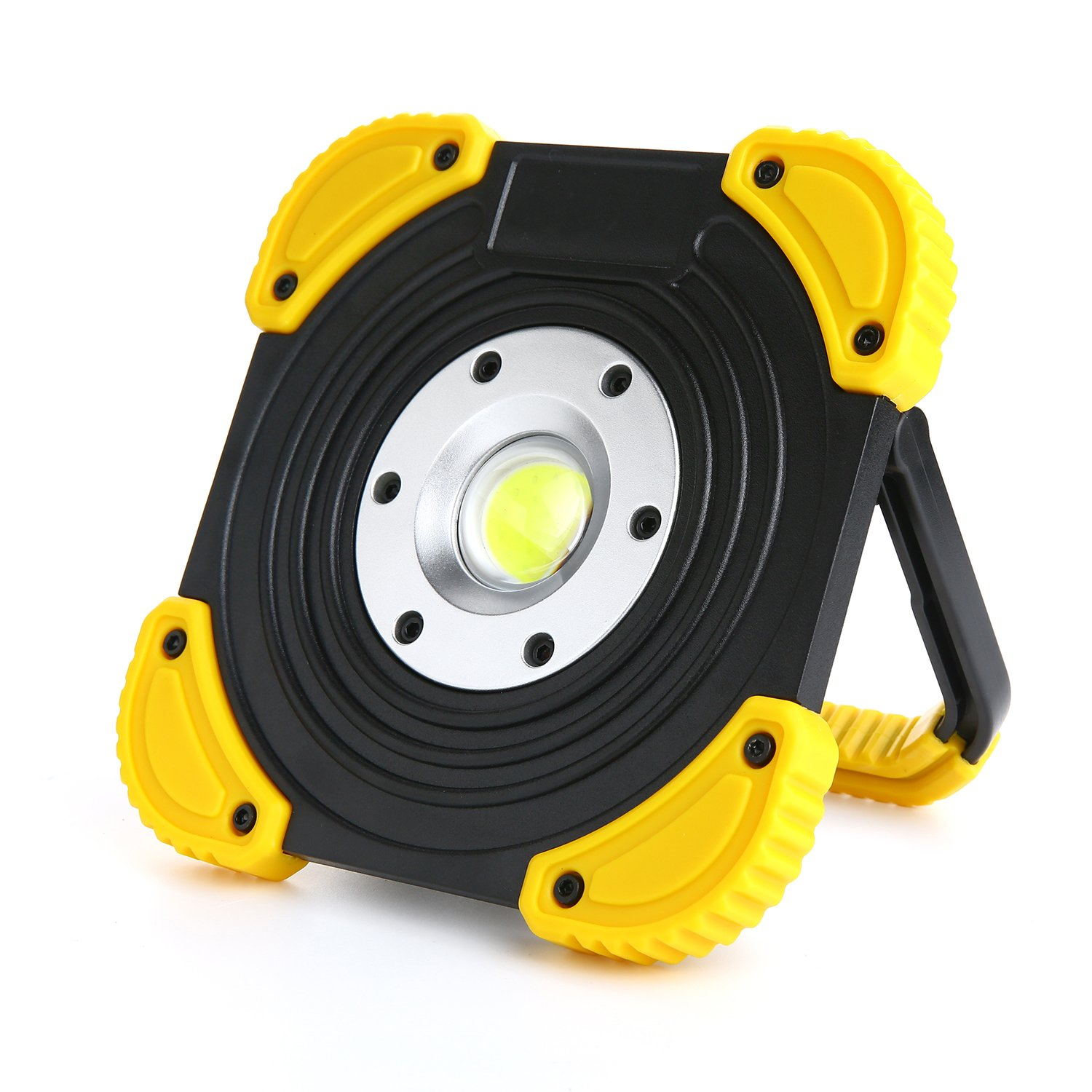 Portable LED Work Light with Stand, Cordless 1100 Lumens Work Lights for Shop Site Truck Garage by Hisonde (Image #1)