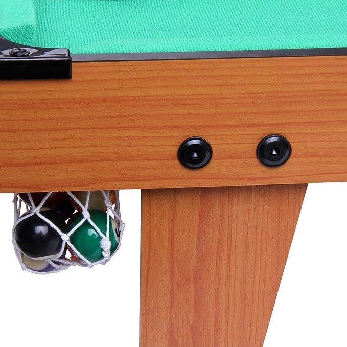 EXCELVAN - Mini Mesa de Billar sobre Mesa (Mesa de Billar con Bolas, Taco de Billar, Cepillo, Tiza, Estante)  (29