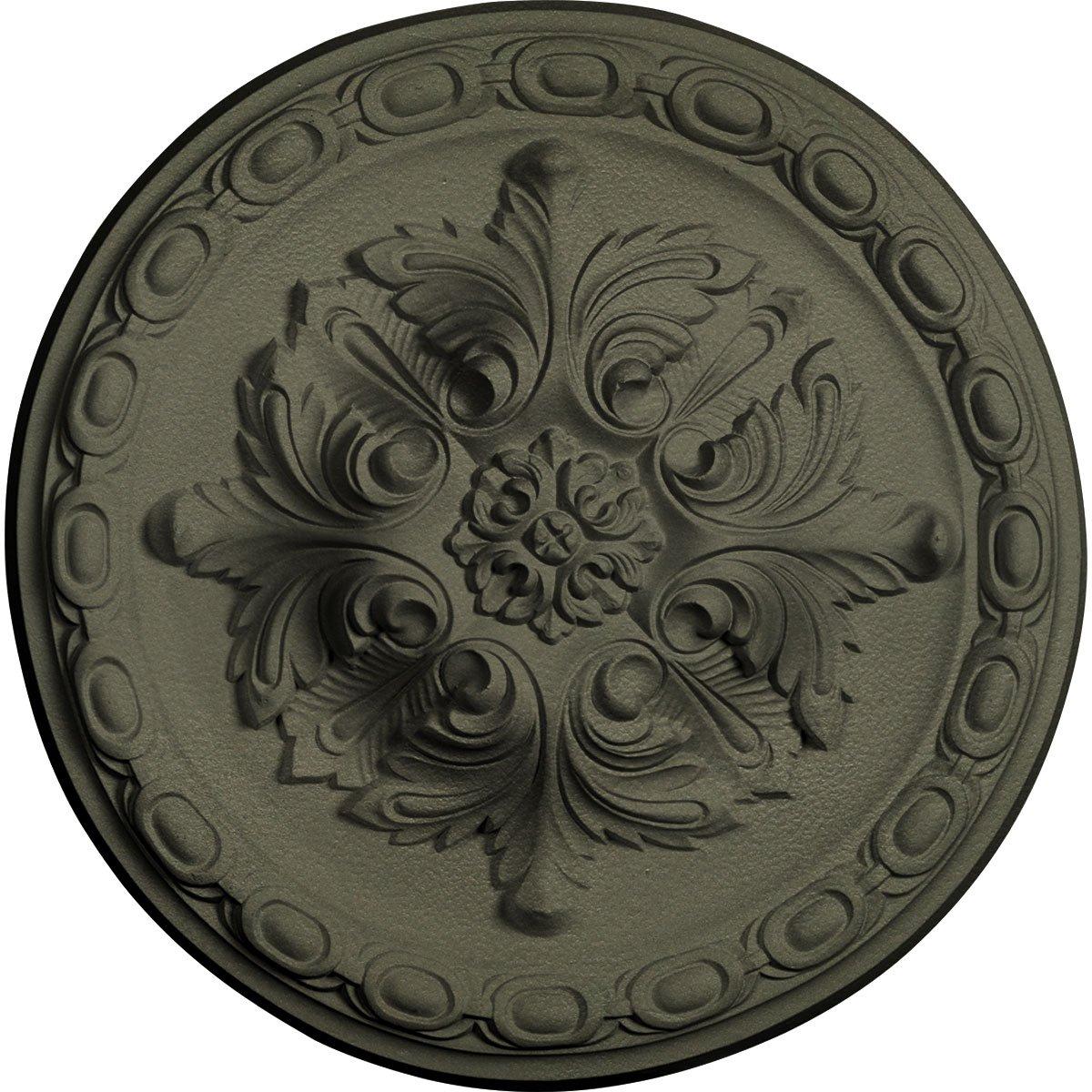 Ekena Millwork CM12STPTF Ceiling Medallion 11 3/4'' OD x 3/8'' P Stockport, Painted Turtle