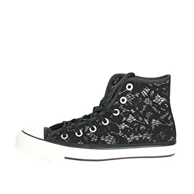 871ae4230 Image Unavailable. Image not available for. Color: Converse Chuck Taylor  All Star Hi Crochet & Lace Fashion Sneakers ...