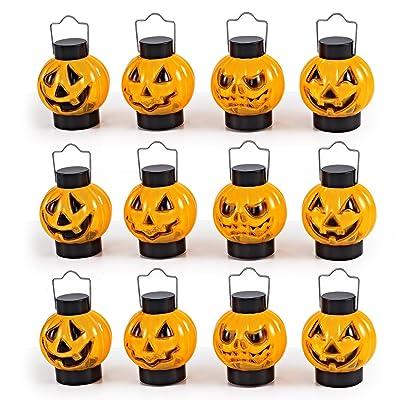 JOYIN 1 Dozen Halloween Light Up Pumpkin Lanterns for Best Halloween Decorations Props: Toys & Games