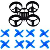 LHI RC Quadcopter Frame Black and 8pcs Propellers Blue for Tiny Whoop Blade Inductrix or Eachine E010