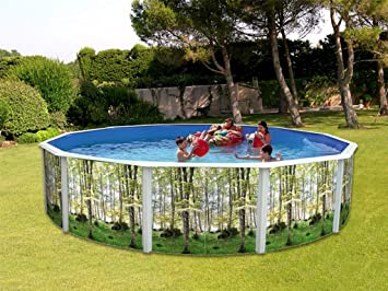 TOI - Piscina desmontable redonda decorada modelo bosque - 460x120 ...