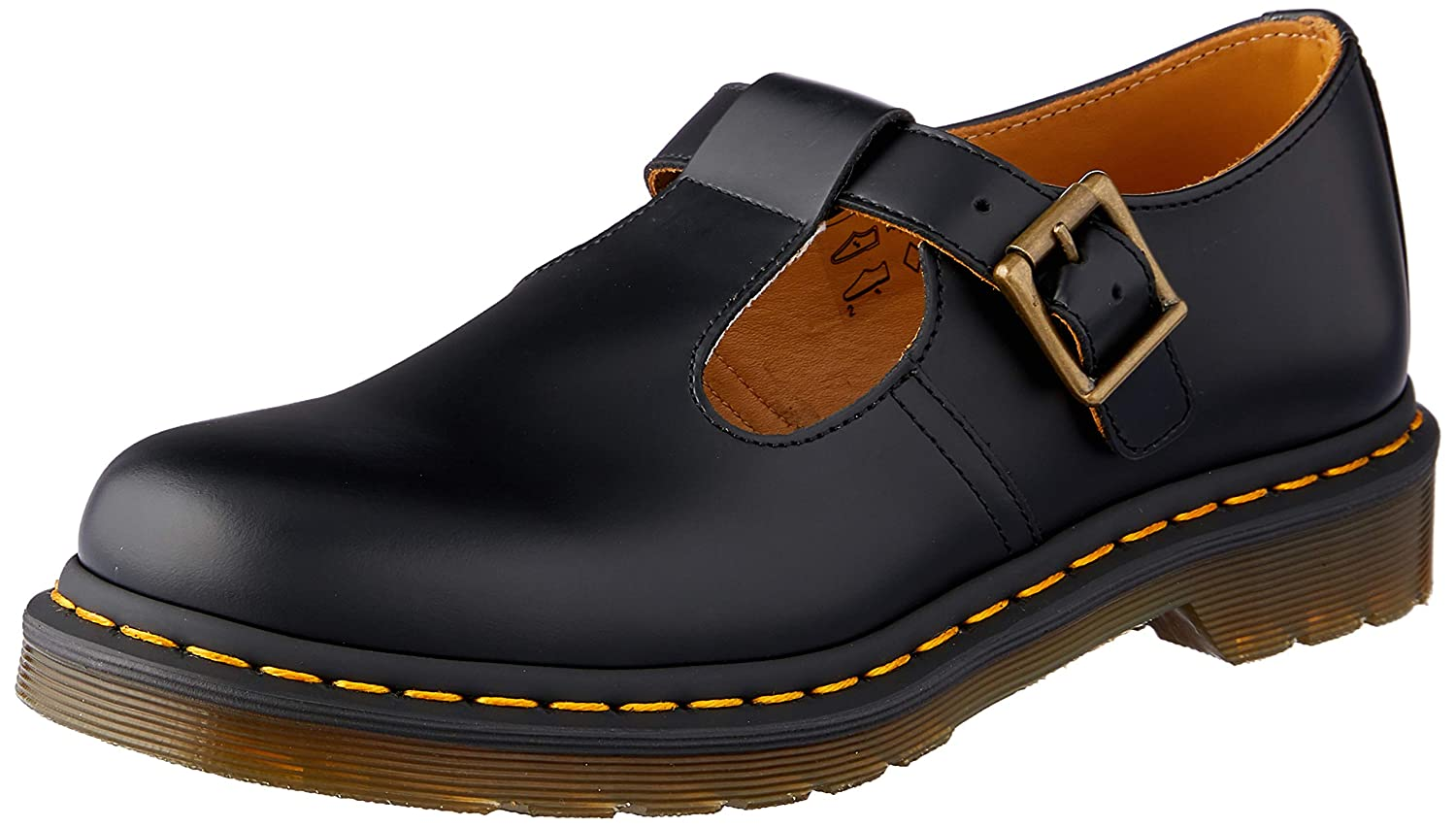 negro Dr. Martens Polley, Mary Jane para mujer