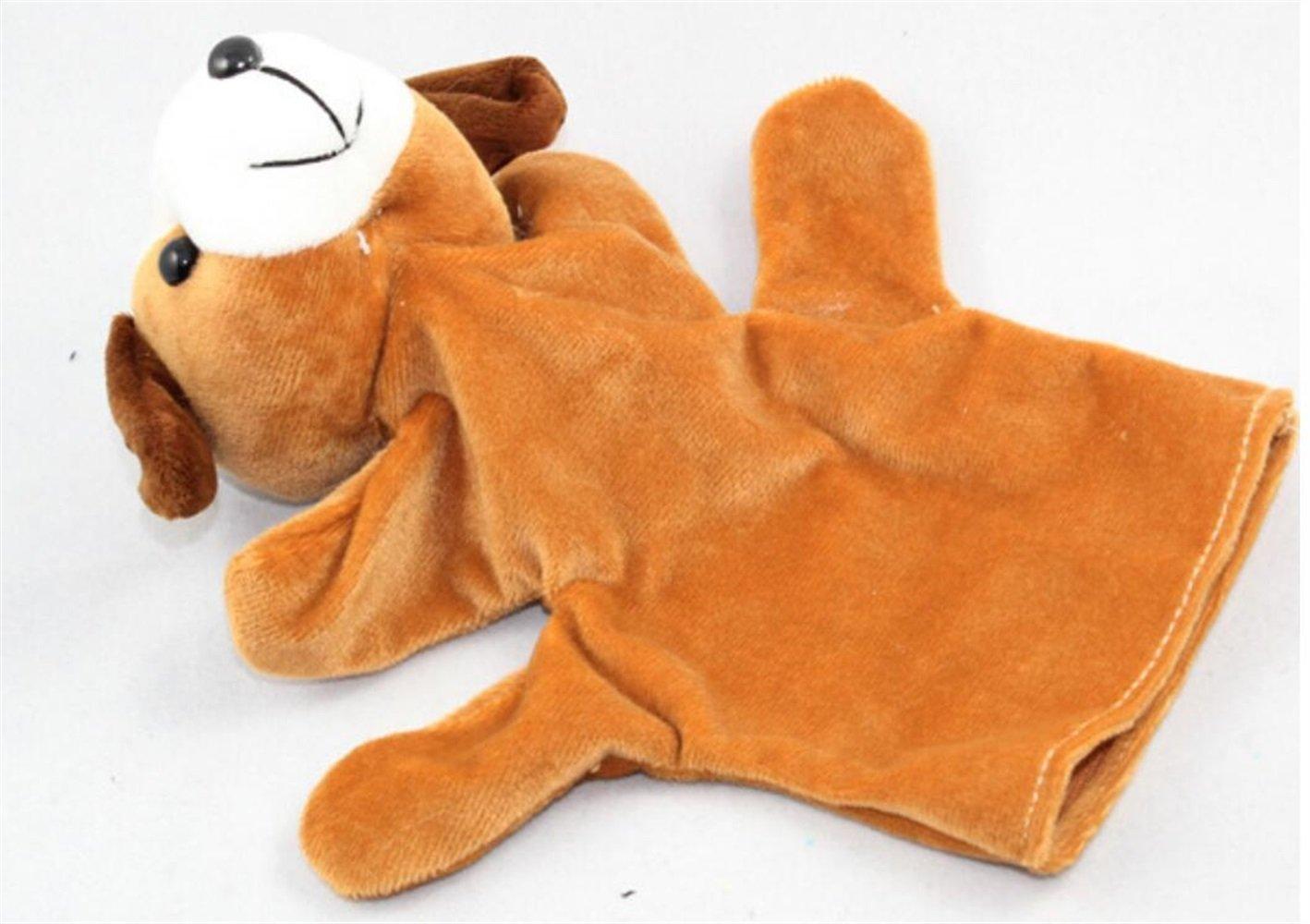 IU Desert Rose Simpatico Pupazzo Giocattolo Dito Marionette a mano morbida Giocattoli per bambini Play Story Toy (cucciolo marrone)
