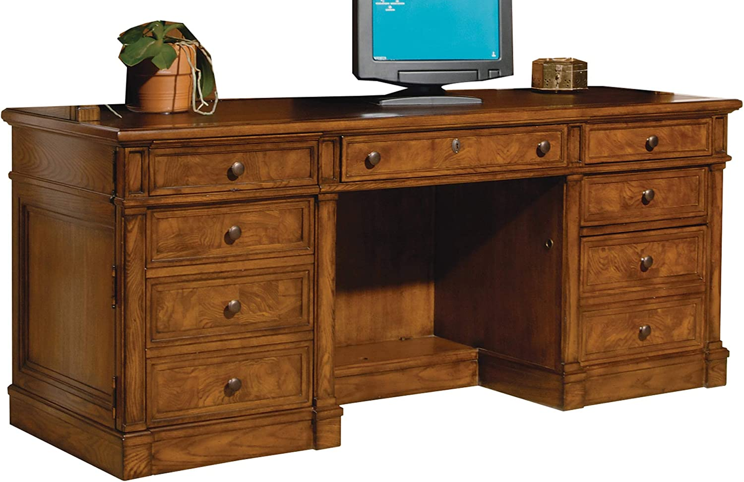 Hekman Executive CREDENZA Desk, 0.0, Urban ASH BURL