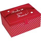 Button It Large Sewing Box - Red Polka Dot 316