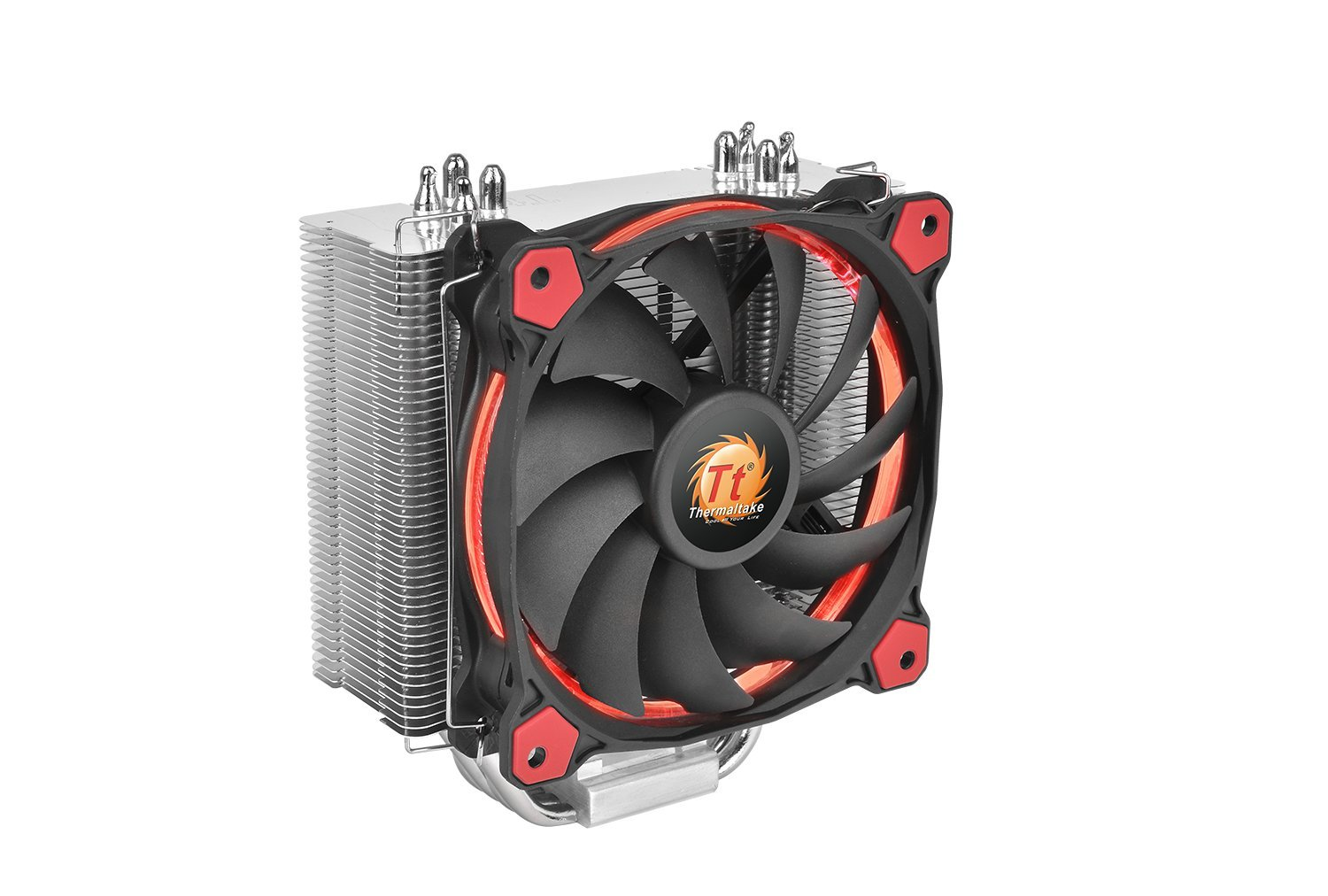 Thermaltake RIING Silent 150W Intel/AMD 120mm High Airflow LED Fan CPU Cooler, Red