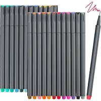 iBayam Fineliner Pens, 24 Bright Colors Fine Point Pens Colored Pens for Journaling Note Taking Writing Drawing Coloring…