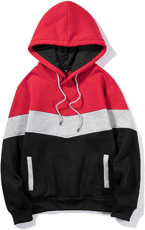 Kakat Herren Casual Pullover mit Kapuze Sweatshirt Geschenk Weihnachten Casual Sportkleidung Frühling Herbst Winter Dünn Jacke Sweatshirt 1 Set Rot