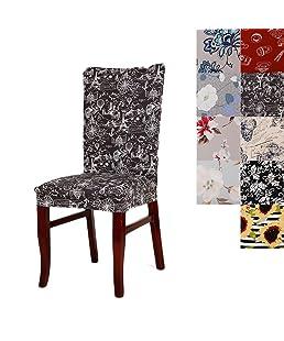 Super fit universale stretch sedia copertine, rimovibile e lavabile, per sedie per sala da pranzo, Spandex, C, confezione da 1