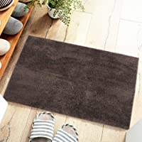 Floor Door Mat Brown Household Kitchen Door Non-Slip Floor Protective Mat Thickened Bathroom Carpet(80 * 100cm)