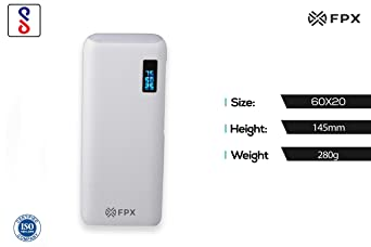 FoxProx FX 10000 32 10000mAH Lithium Ion Power Bank  White