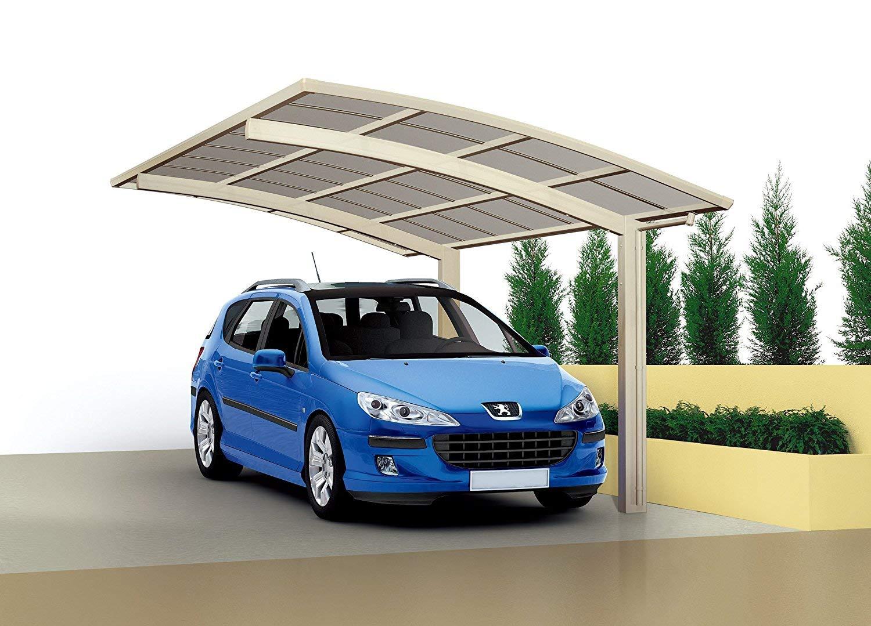 Ximax Cobertizo para coche de aluminio, acabado estándar, con canalón, Bajantes, 4950 x 2700 mm, Plateado: Amazon.es: Bricolaje y herramientas