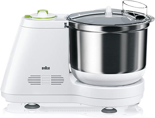 Braun KM 3050 - Robot de cocina (Verde, Color blanco, Acero inoxidable, Masa): Amazon.es: Hogar