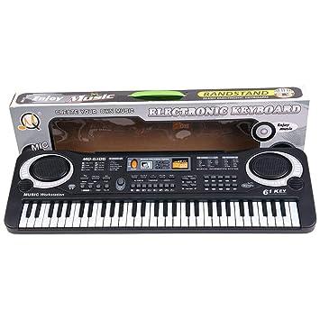 Lorenlli Multifunción y delicado 61 teclas, música digital, teclado electrónico, juguete de regalo, órgano de piano eléctrico para niños: Amazon.es: ...