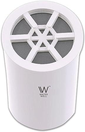 Cartucho de repuesto para filtro de ducha WaterWell, salida sistema de filtración de cloro para cabezal de regadera y filtro purificador de agua de 8 fases: Amazon.es: Bricolaje y herramientas