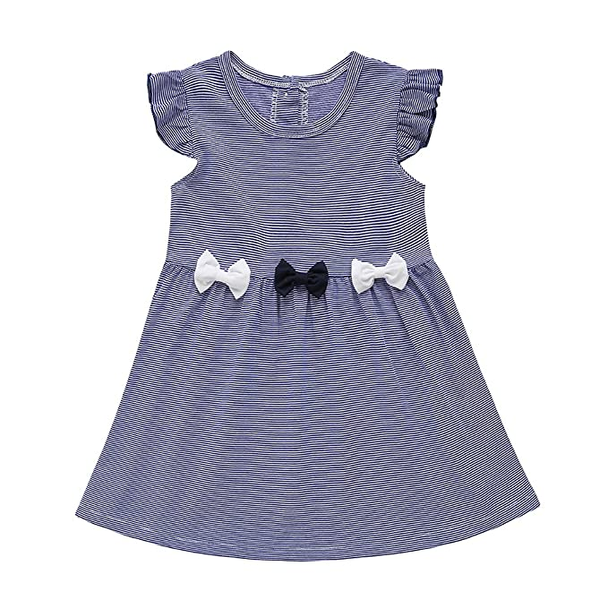 dbbf467a1 Cutelove - Vestido - trapecio - Rayas - Sin mangas - para niña azul azul  oscuro 80 cm-18-24 Meses: Amazon.es: Ropa y accesorios
