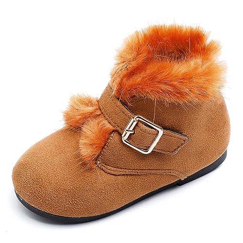 Botines para niños con Velcro Piel Hebilla Correa Niñas Moda Gamuza Otoño Invierno Niños Zapatos Ocasionales: Amazon.es: Zapatos y complementos