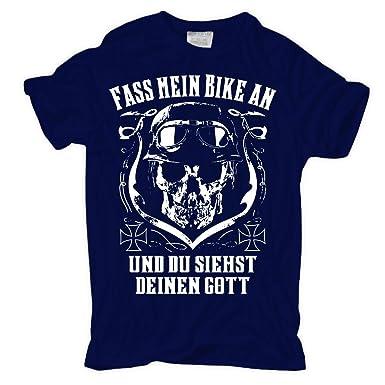 Männer und Herren T-Shirt Fass Mein Bike an und Du Siehst Gott (mit