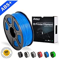 SUNLU ABS Filaments for 3D Printer- Blue ABS Filament 1.75 mm,Low Odor Dimensional Accuracy +/- 0.02 mm 3D Printing Filament,2.2 LBS (1KG) Spool 3D Printer Filament for 3D Printers & 3D Pens,Blue