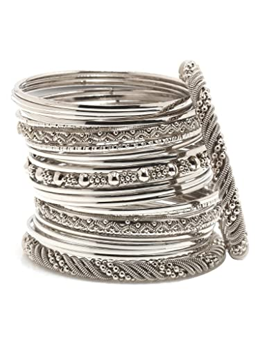 hammered linear bangle set stacking beaded silver sterling prod ourshop bangles
