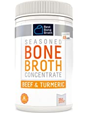 Premium Beef Bone Broth Concentrate Turmeric Flavour - Maximized Nutrition Bone Broth On The Go - No Hormones or Additives, Delicious Natural Flavor, Sourced from AU & NZ Beef - Beef Broth