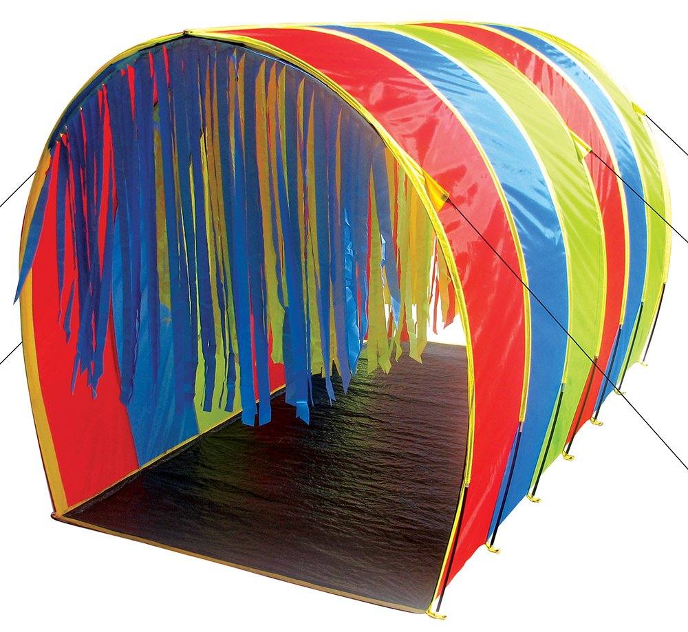 Pacific Play Tents 95100 Kids Tickle Me 9.5-Foot Giant Institutional Crawl Play Tunnel, 9.5'' x 5.5' x 6' by Pacific Play Tents (Image #1)