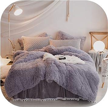 Bedding 4pcs set Winter warm Crystal velvet quilt cover bed skirt cotton-padded