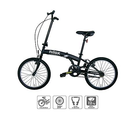 Nilox X0 Bici Pieghevole Ruote 20 Nero Opaco