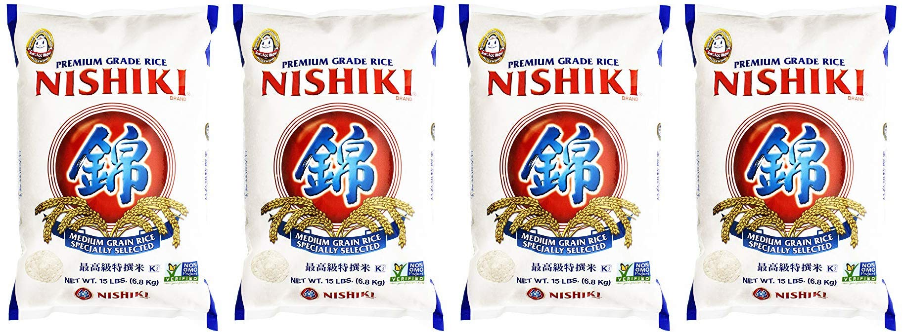 Nishiki Premium Rice, Medium Grain (4 Pack)