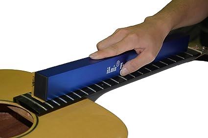 Herramienta de lijado iLuiz para nivelar trastes de guitarra (400 mm)