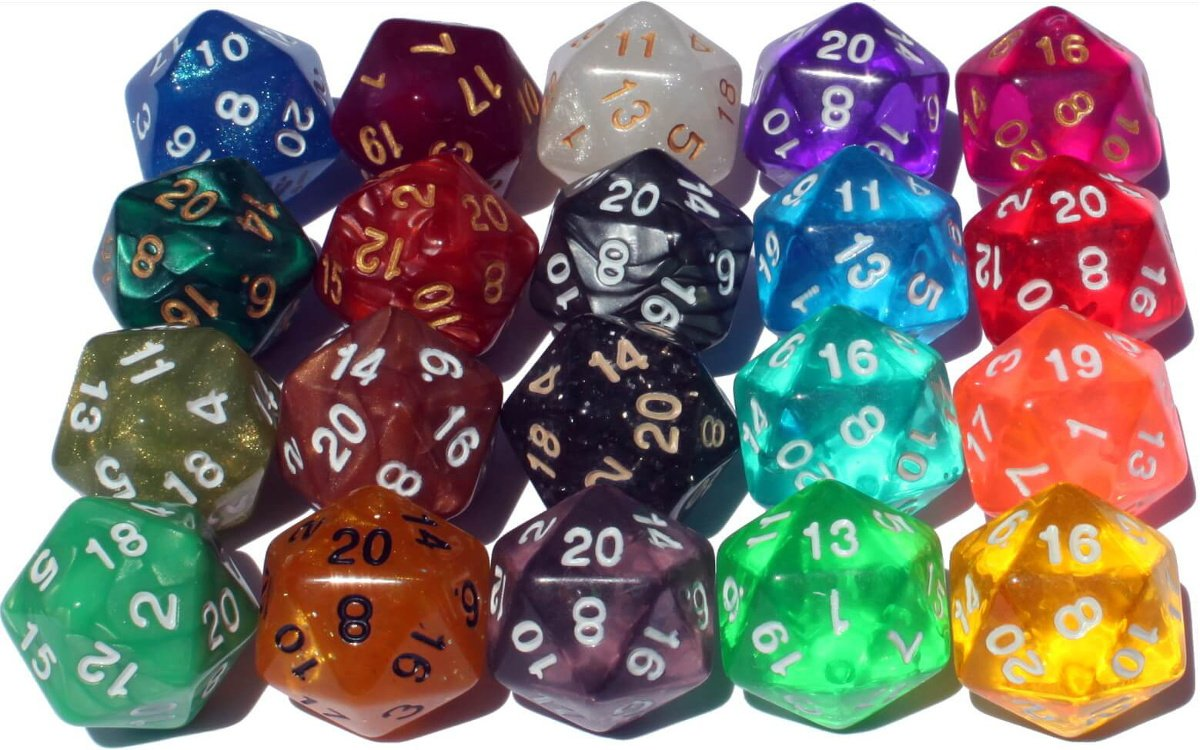 High City Books The 20/20 Dice Pack | Twenty 20-Sided Dice