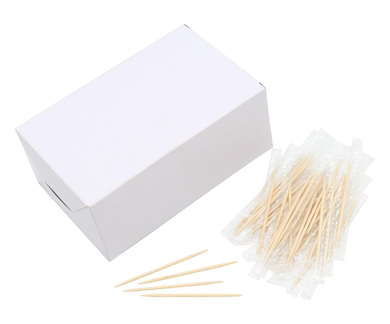 2.6 Inch Length Individually Wrapped Wooden Toothpicks Home Wood Toothpick Premium Quality 1000pcs