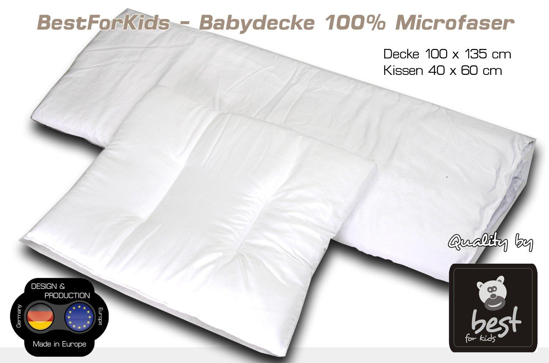 100 x 135 Kissen Kindersteppbett Kinderdecke Gr BEST FOR KIDS Bettset Decke