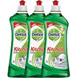 Dettol Kitchen Gel - 750 ml (Lime, Pack of 3)