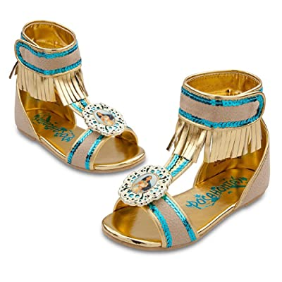 Disney Store Pocahontas Costume Shoes/Sandals Size 7/8: Toys & Games