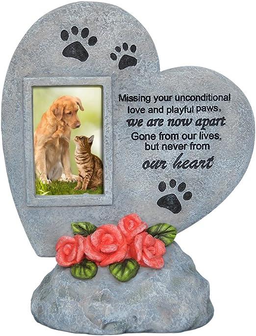 PETAFLOP - Marco de Fotos con Forma de corazón para Perro, Gato o Perro, para jardín o Patio Trasero: Amazon.es: Productos para mascotas